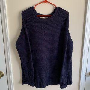 Purple chunky sweater
